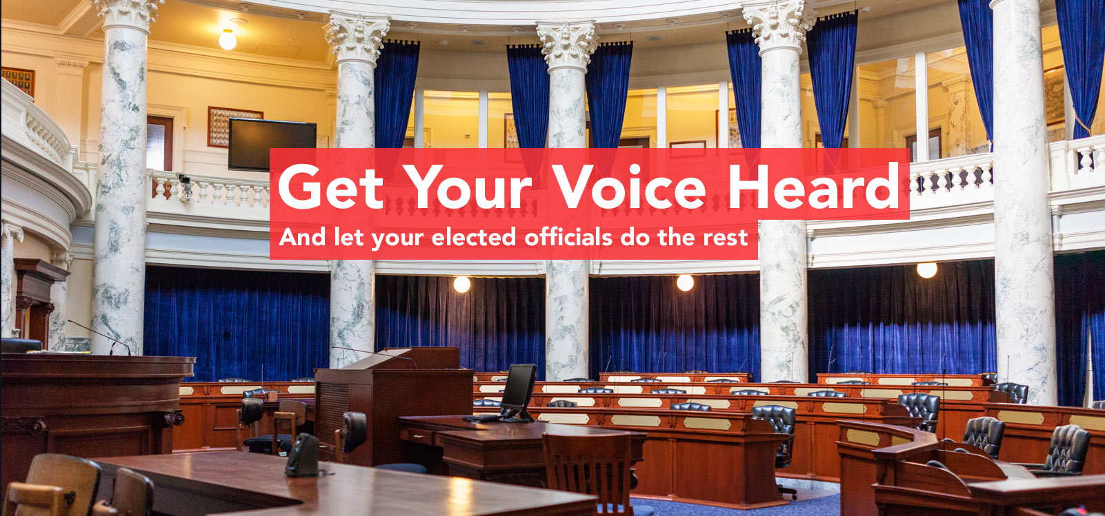 Get your voice heard and let your elected officials do the rest